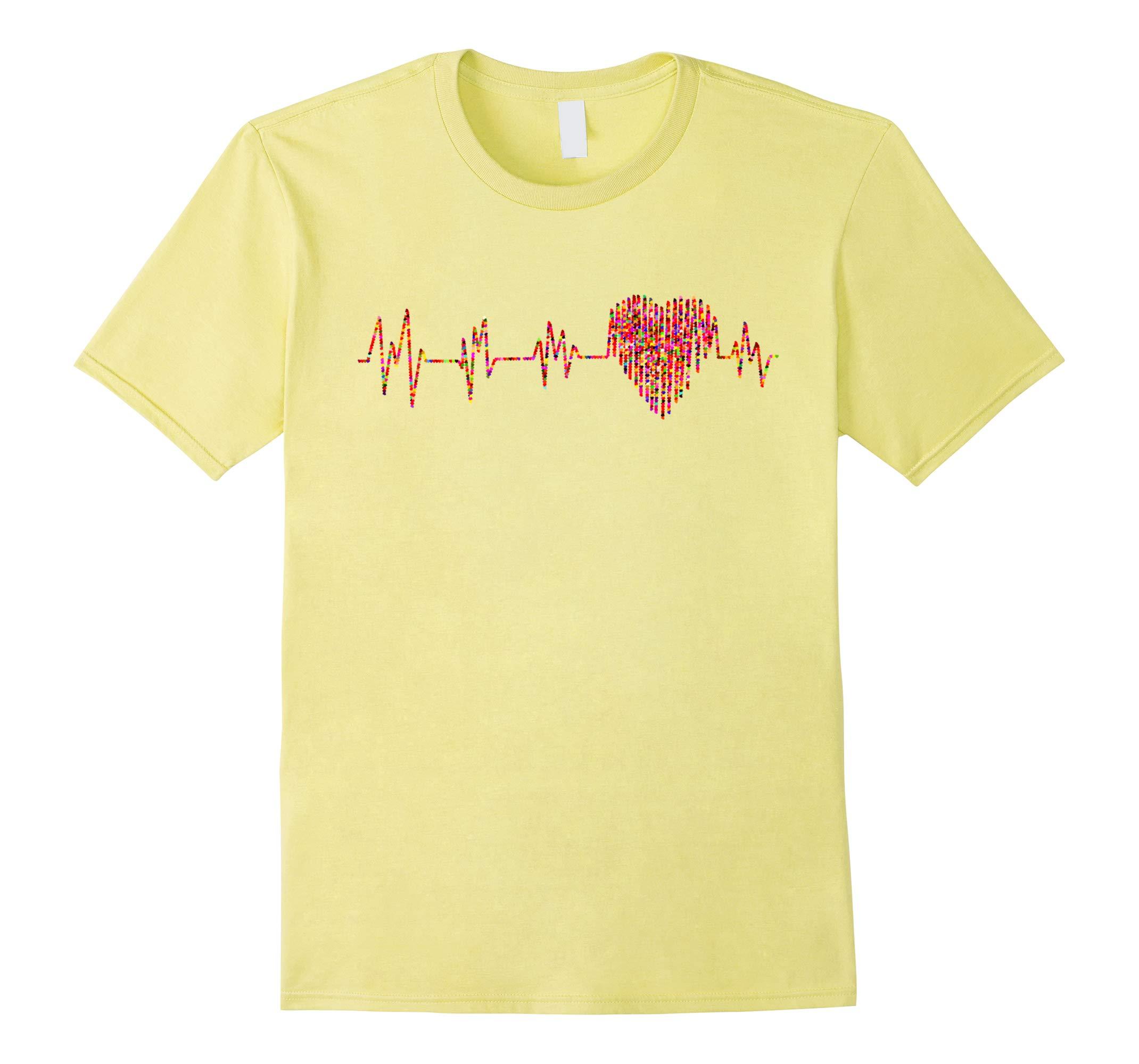 Valentines Day Shirt - Red Heart EKG ECG Heartbeat Gift Tee-RT