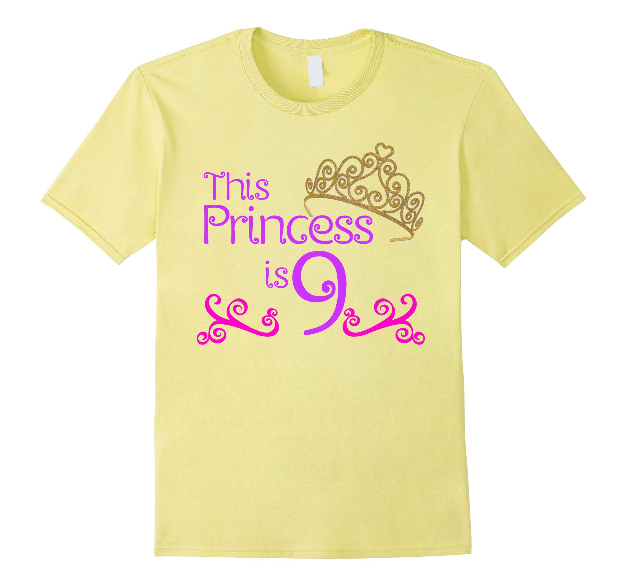 9th Birthday T-Shirt for 9 Year Old Girls-RT