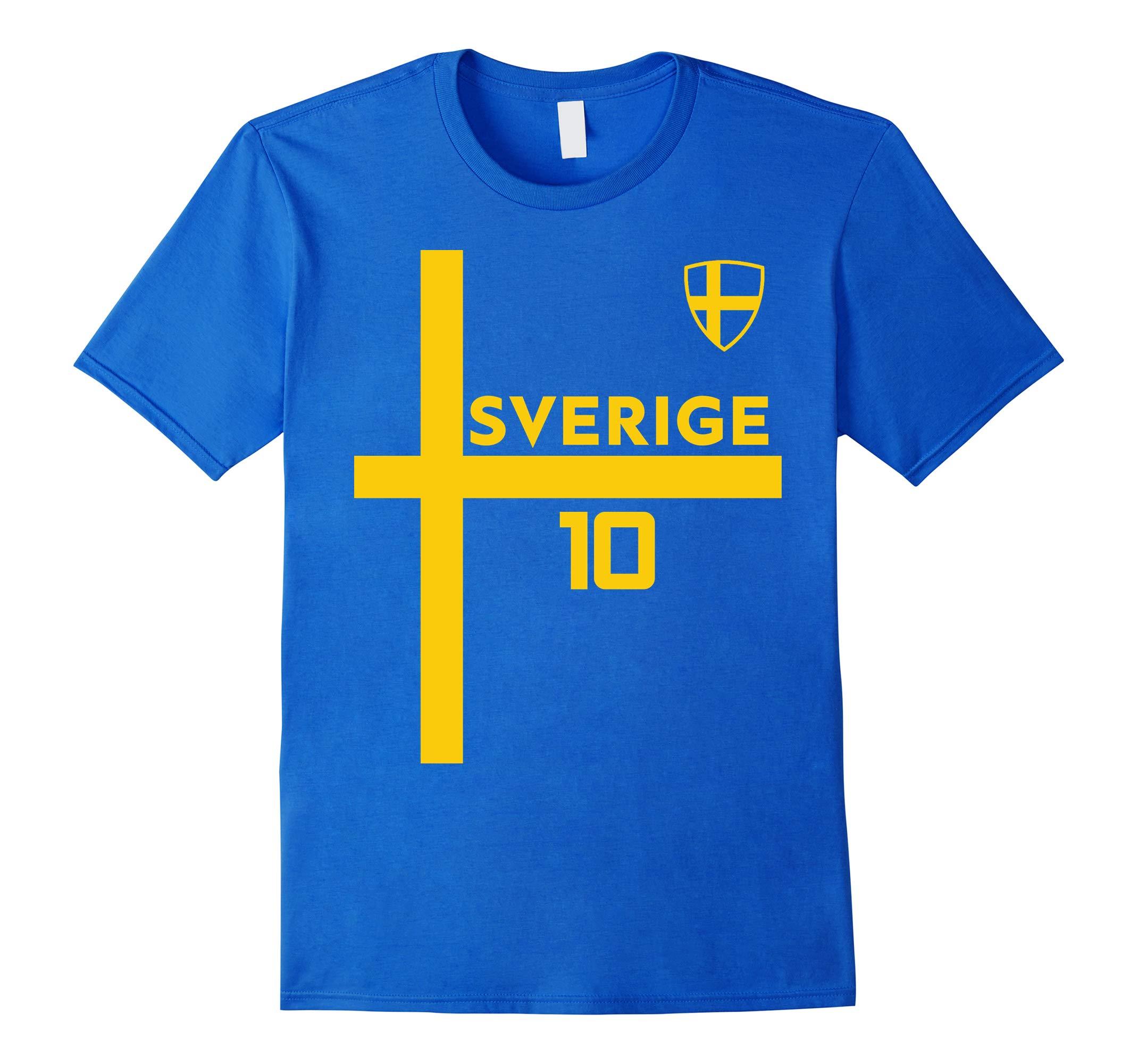 Sweden Jersey Shirt Soccer Sverige Skjorta Fotboll Stroja-RT