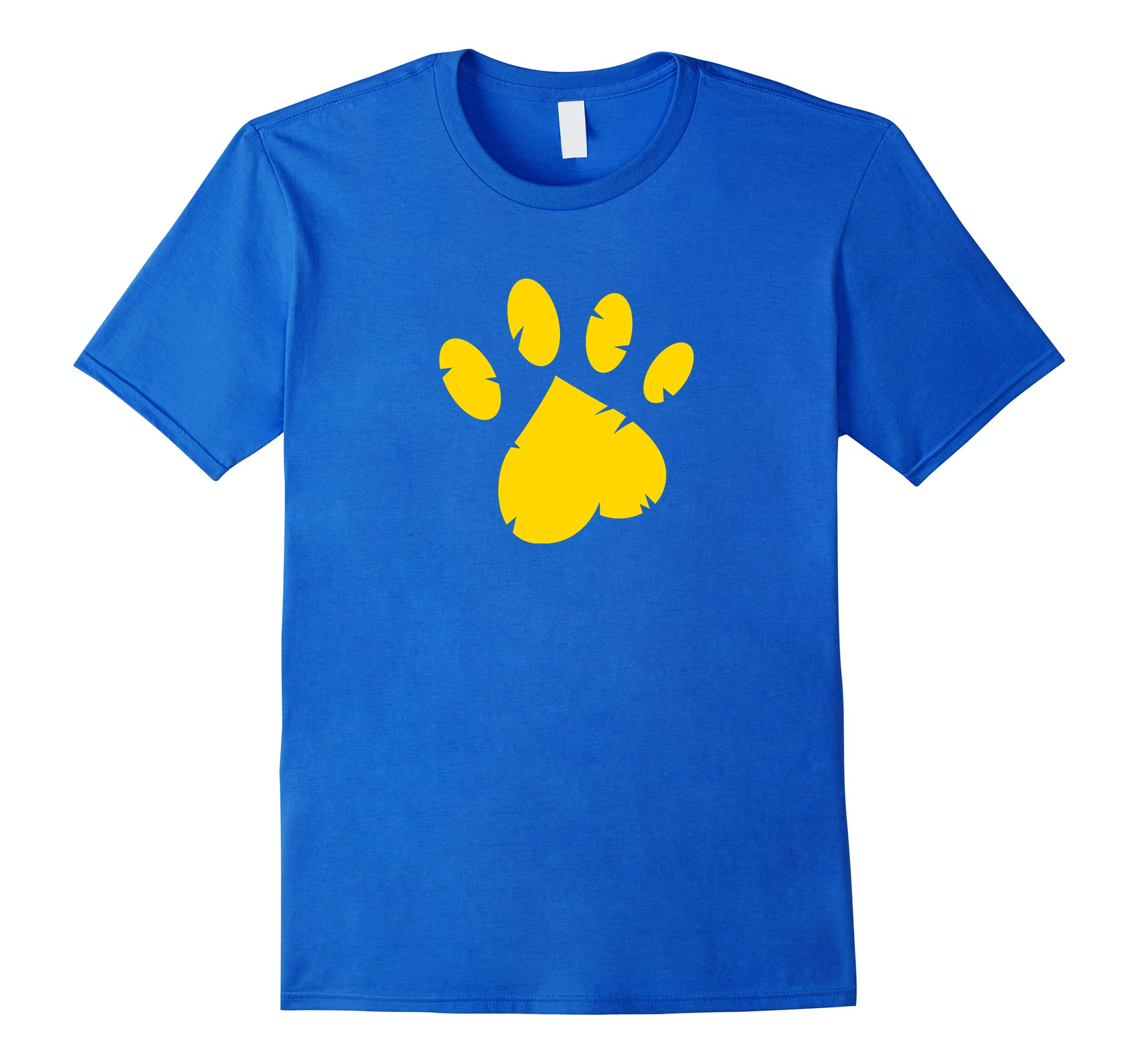 Animal Rescue T-Shirt in Royal Blue with Gold Paw-RT
