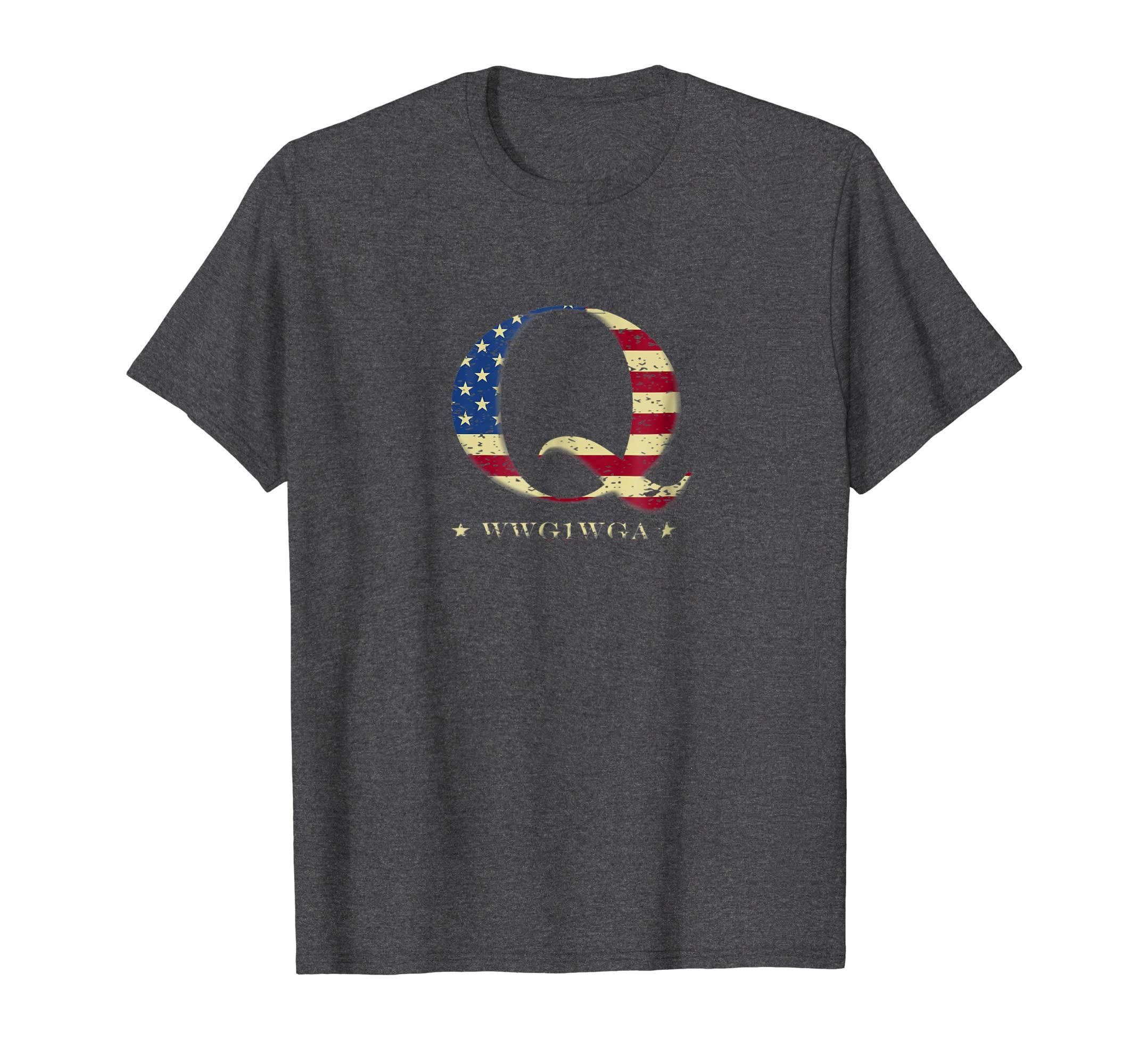 QAnon WWG1WGA Q Anon T-Shirt Great Awakening MAGA USA Tee-ln