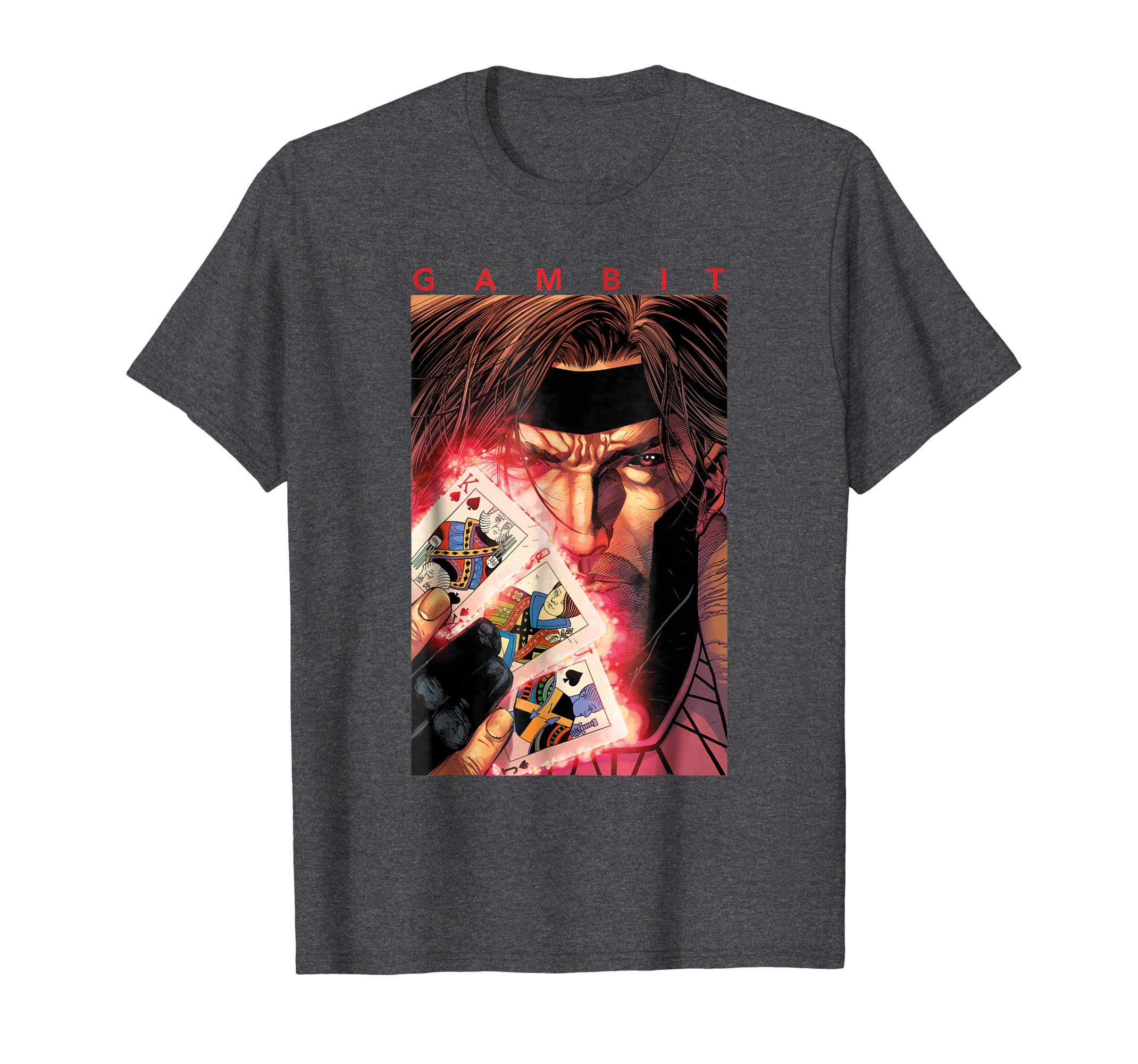 X Men Gambit Glowing Cards Graphic T Shirt-azvn