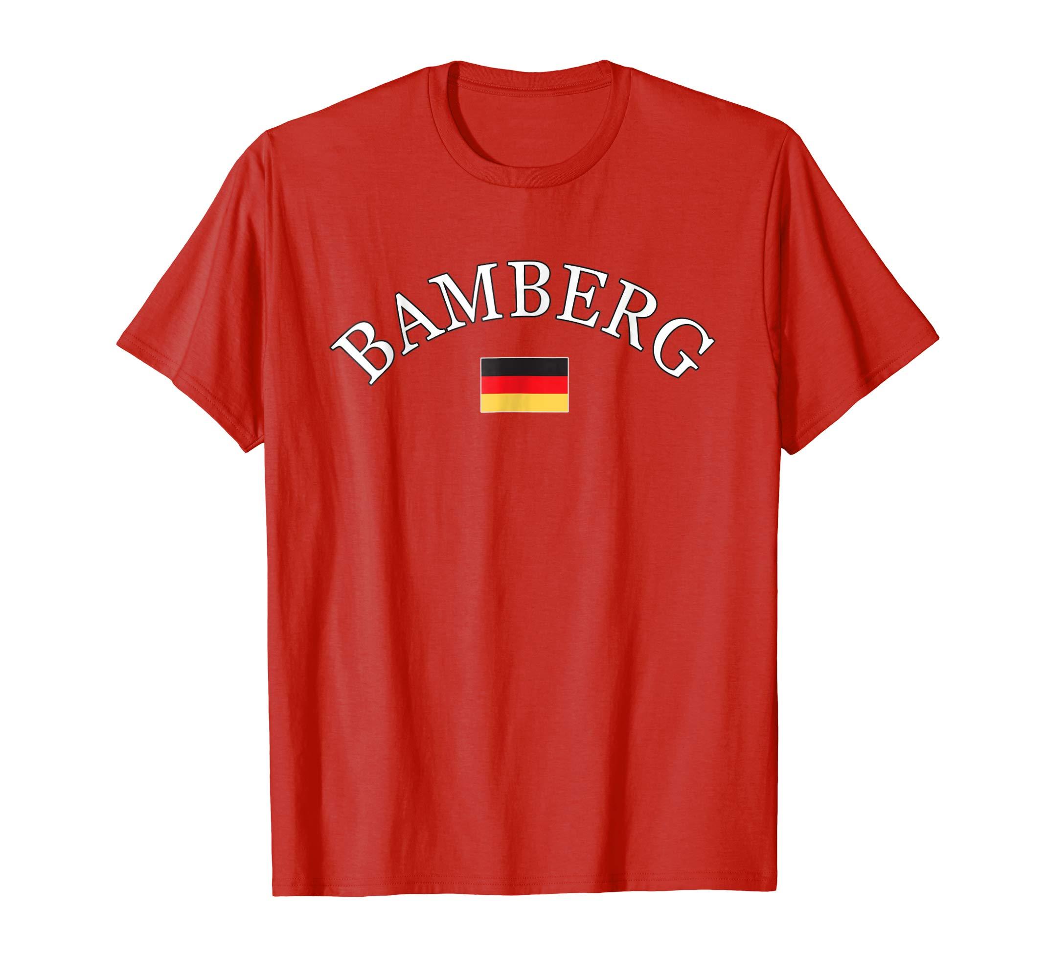 BAMBERG Germany T shirt with German Flag-azvn