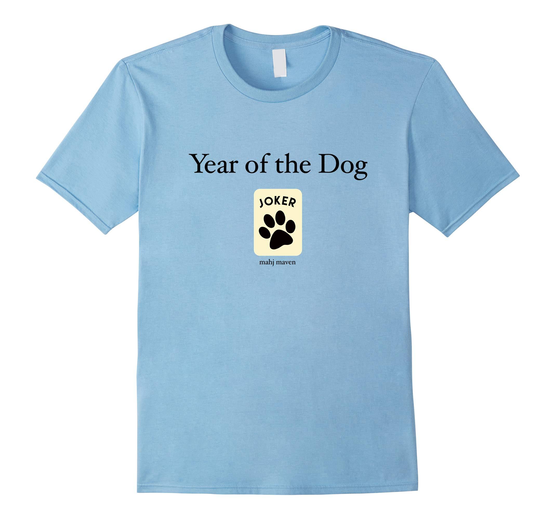 Year of the Dog Chinese New Year Mahjong T-shirt-RT