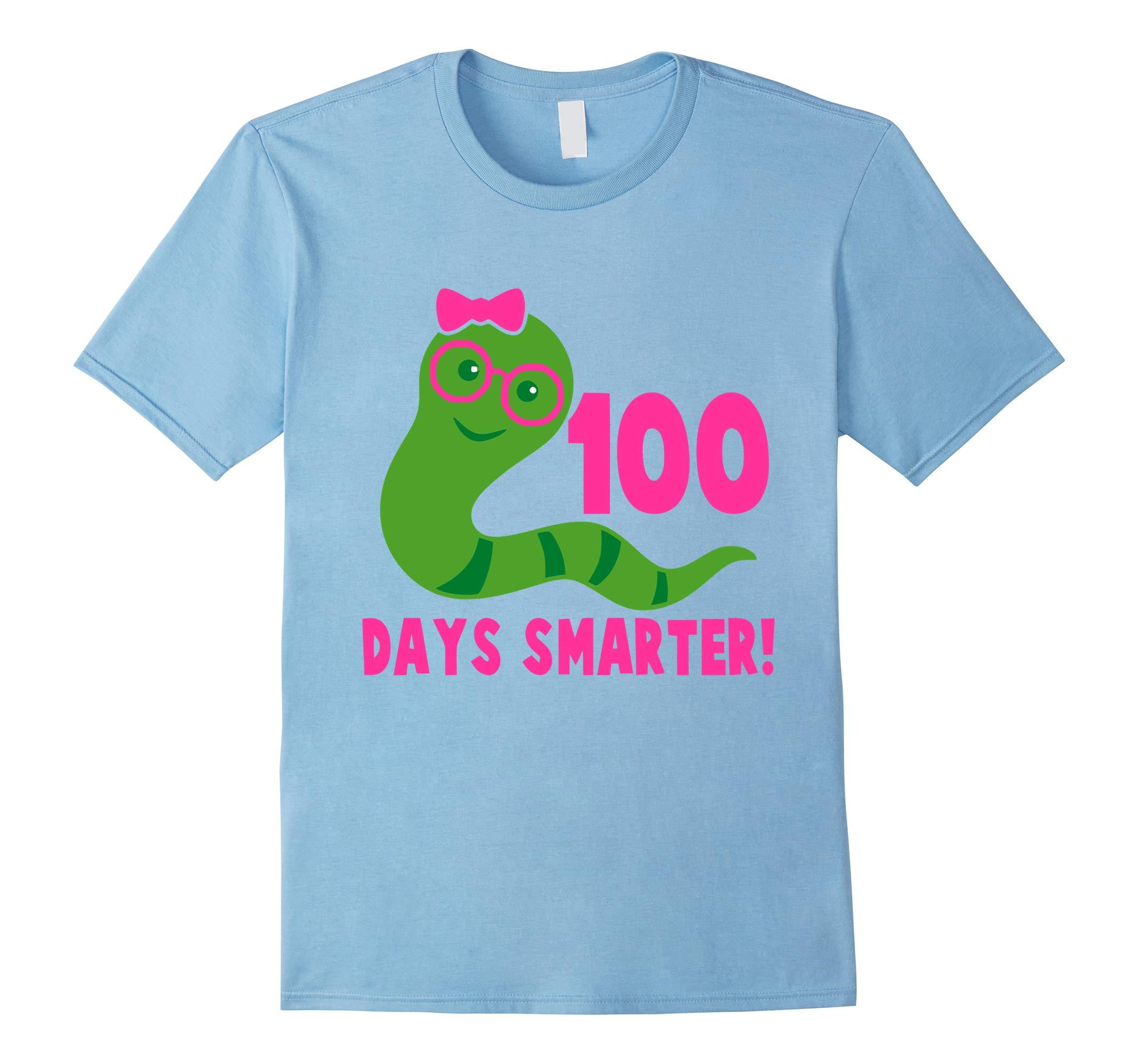 100 Days Smarter Girl Shirt 100th Day of School Celebration-RT