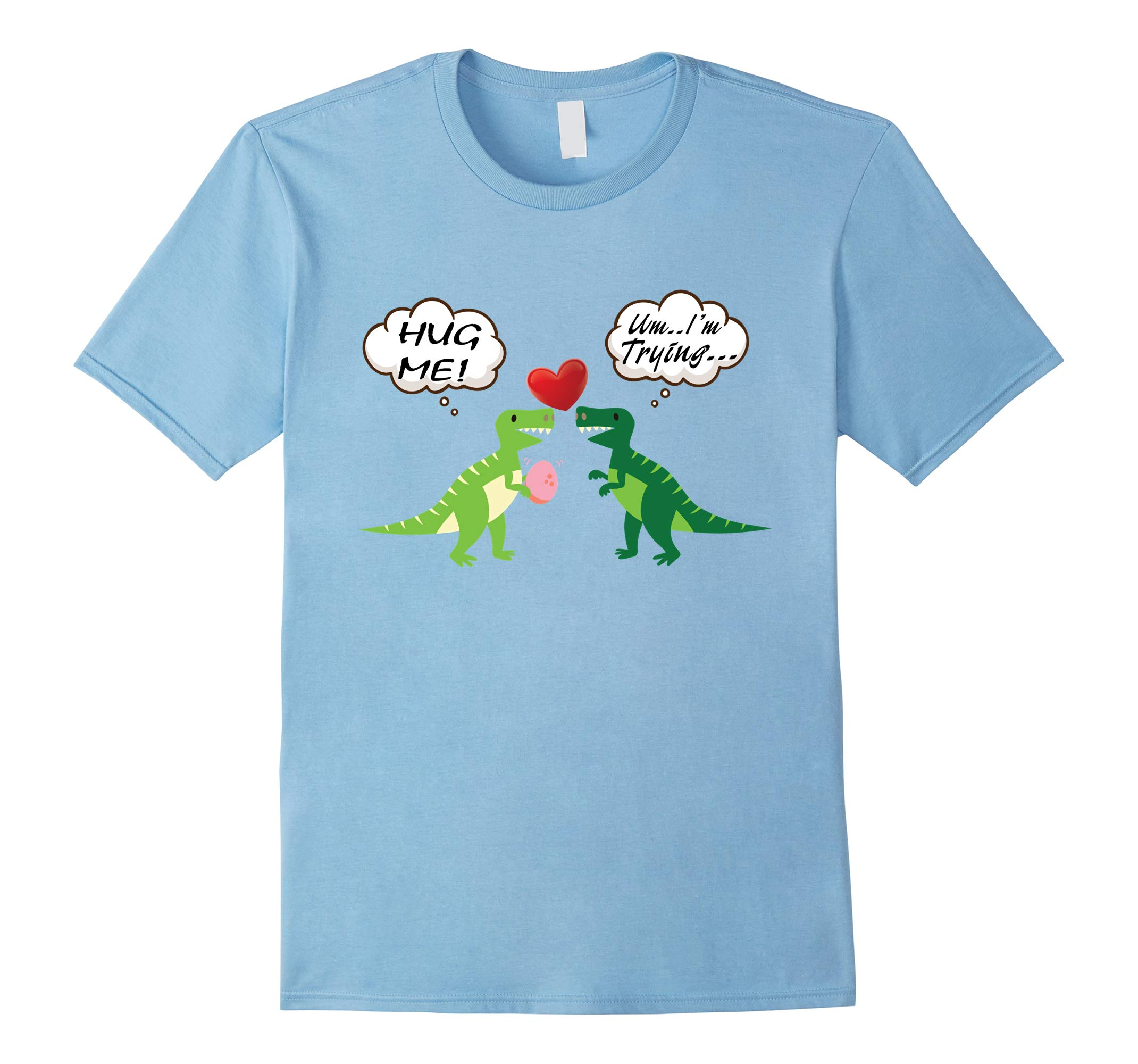 Two Cute Dinosaur Love For Happy Valentine T-Shirt 4-RT