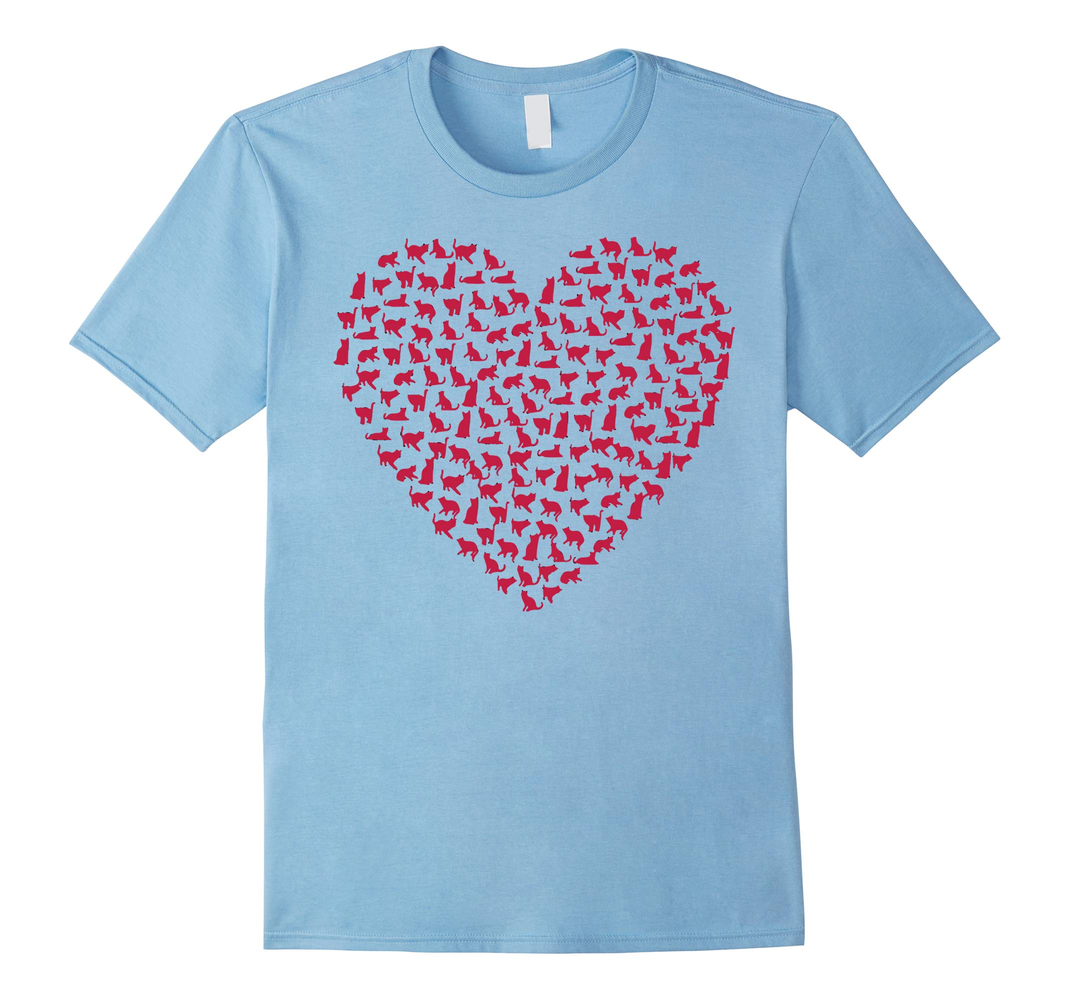 Valentines Day Funny Heart Cat T-Shirt-RT