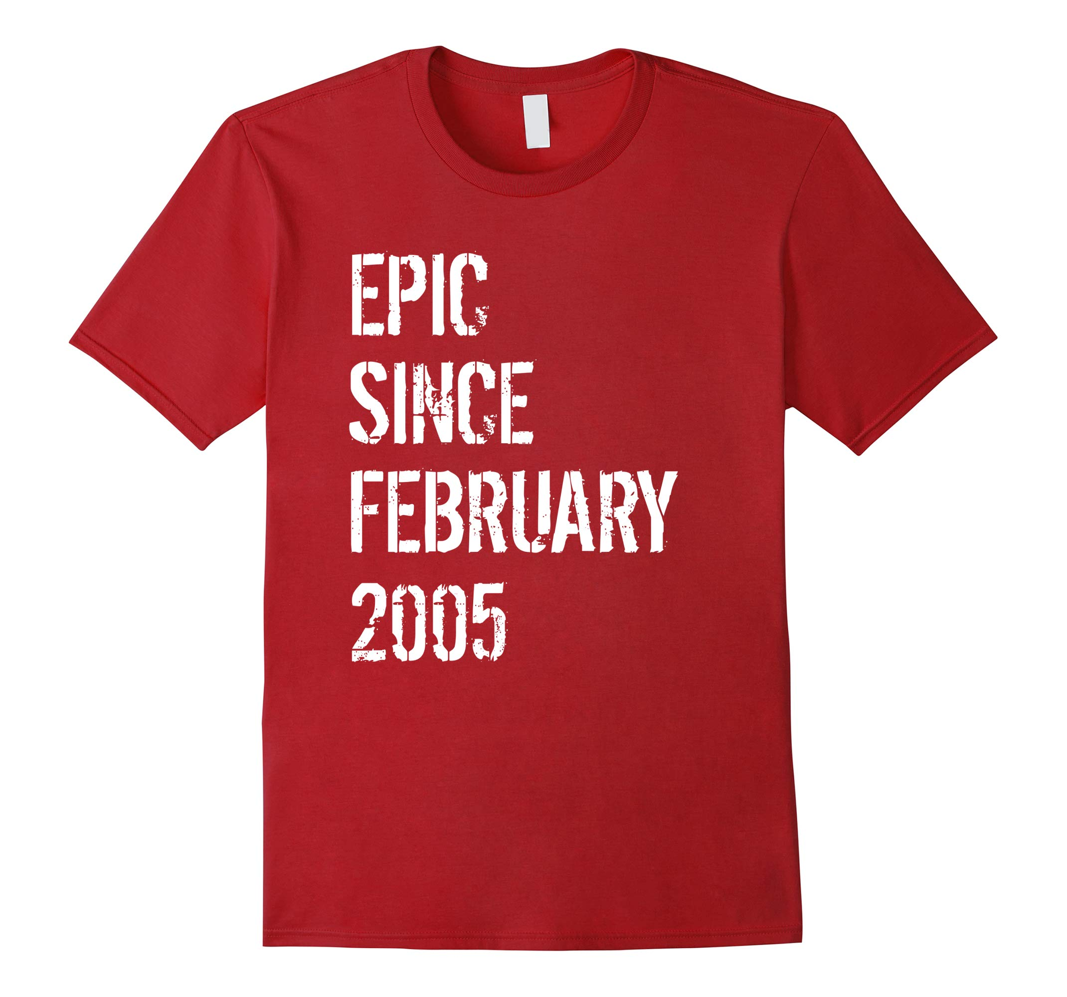 13 Year Old Born Gift Shirt In February 2005 13th Birthday-RT