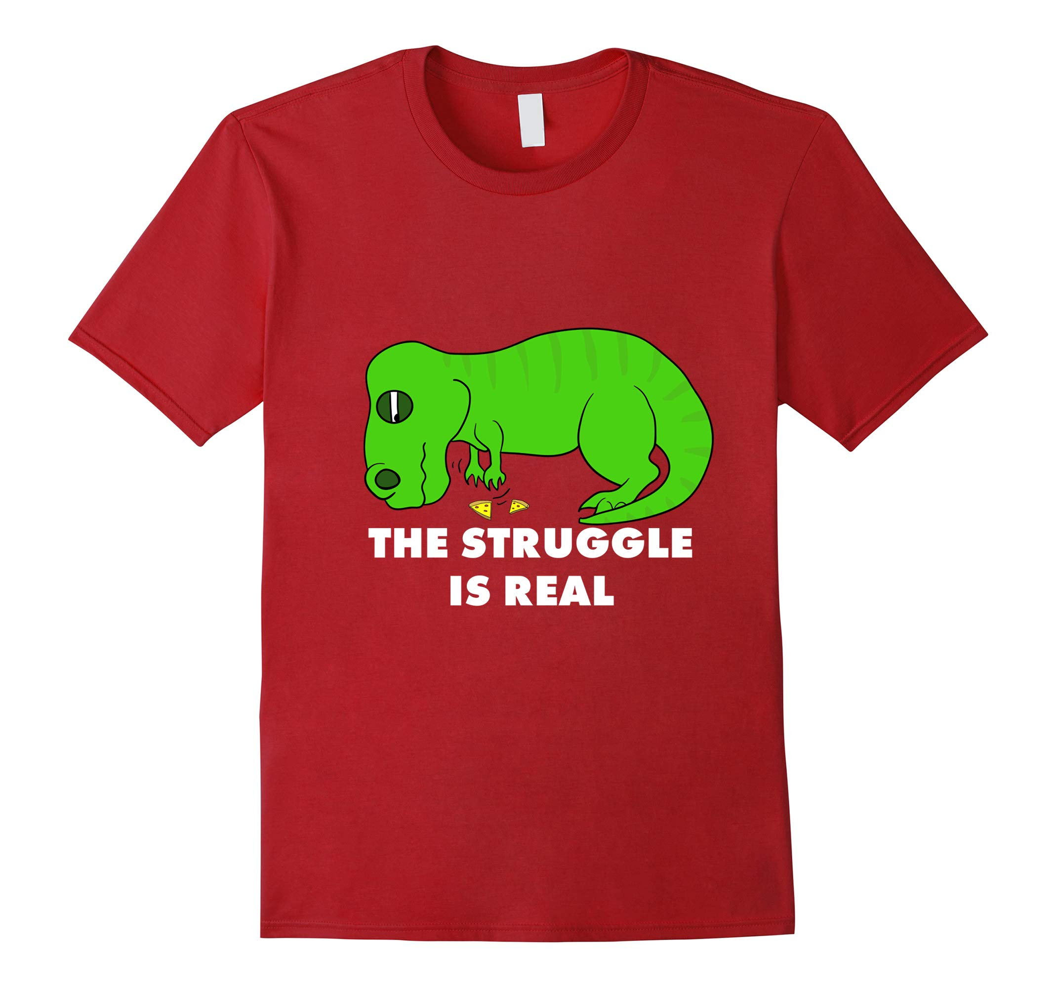 Funny T Rex T Shirt - The Struggle is Real T-Rex Tee-RT