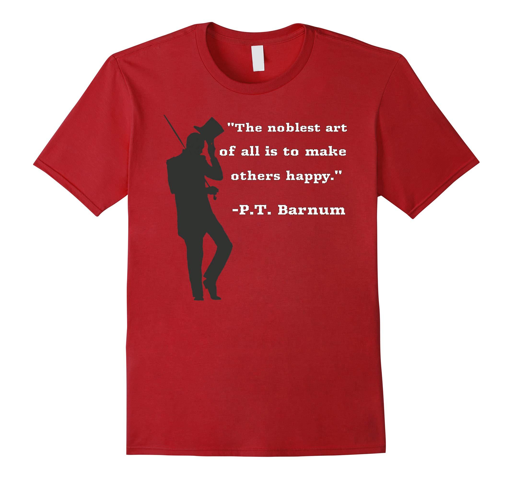 Circus Ring Master P.T. Barnum Quote T-shirt in Black-RT