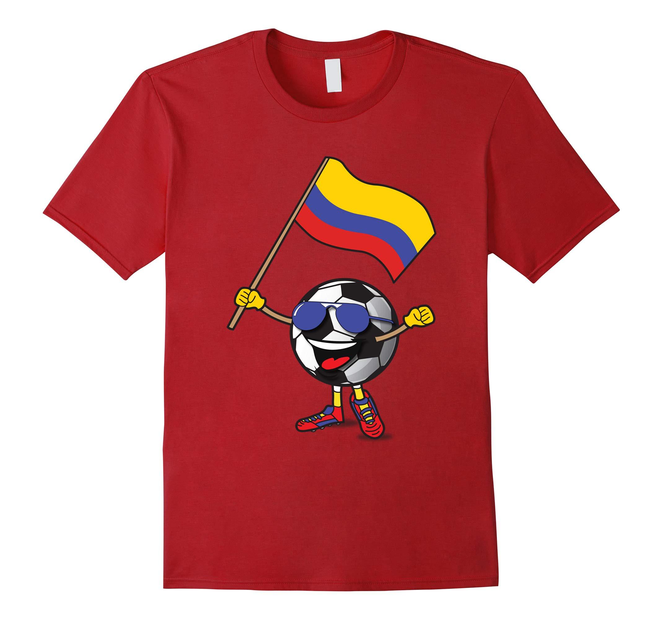Colombia National Team Soccer Ball Fan Shirt For Boys Girls-RT