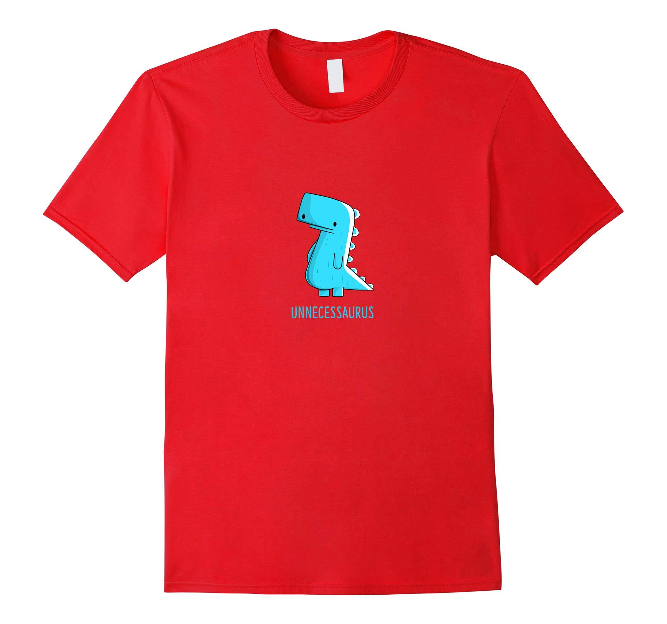 Unnecessaurus Dinosaur Cartoon T-shirt-RT