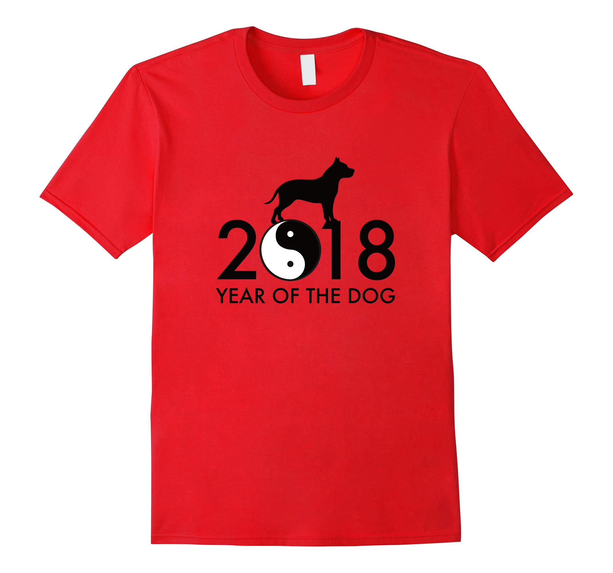 2018 Year of the Dog Black Print T Shirt-RT