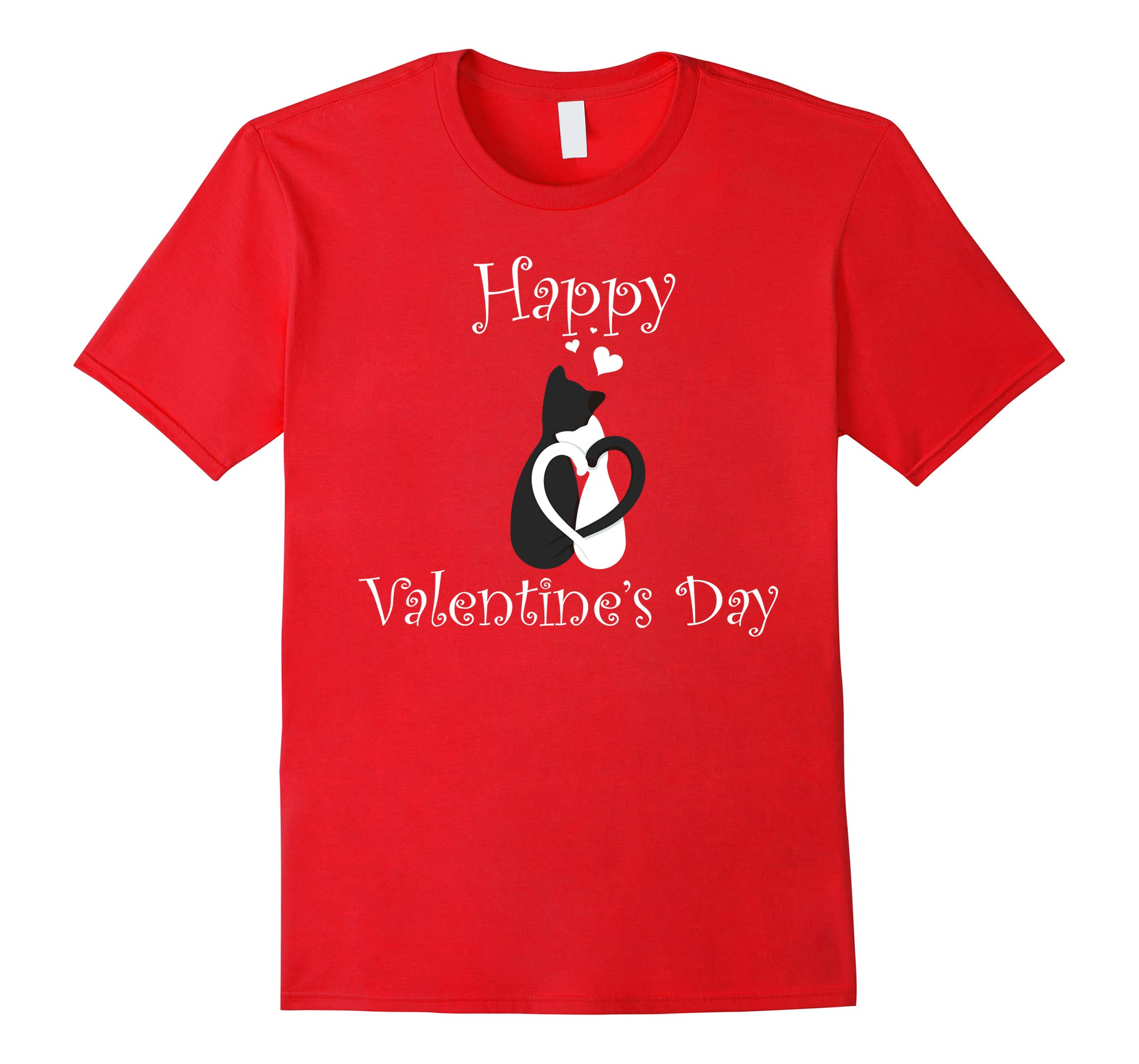 Valentines Day Shirt - Happy Valentines Day Cat Lovers-RT
