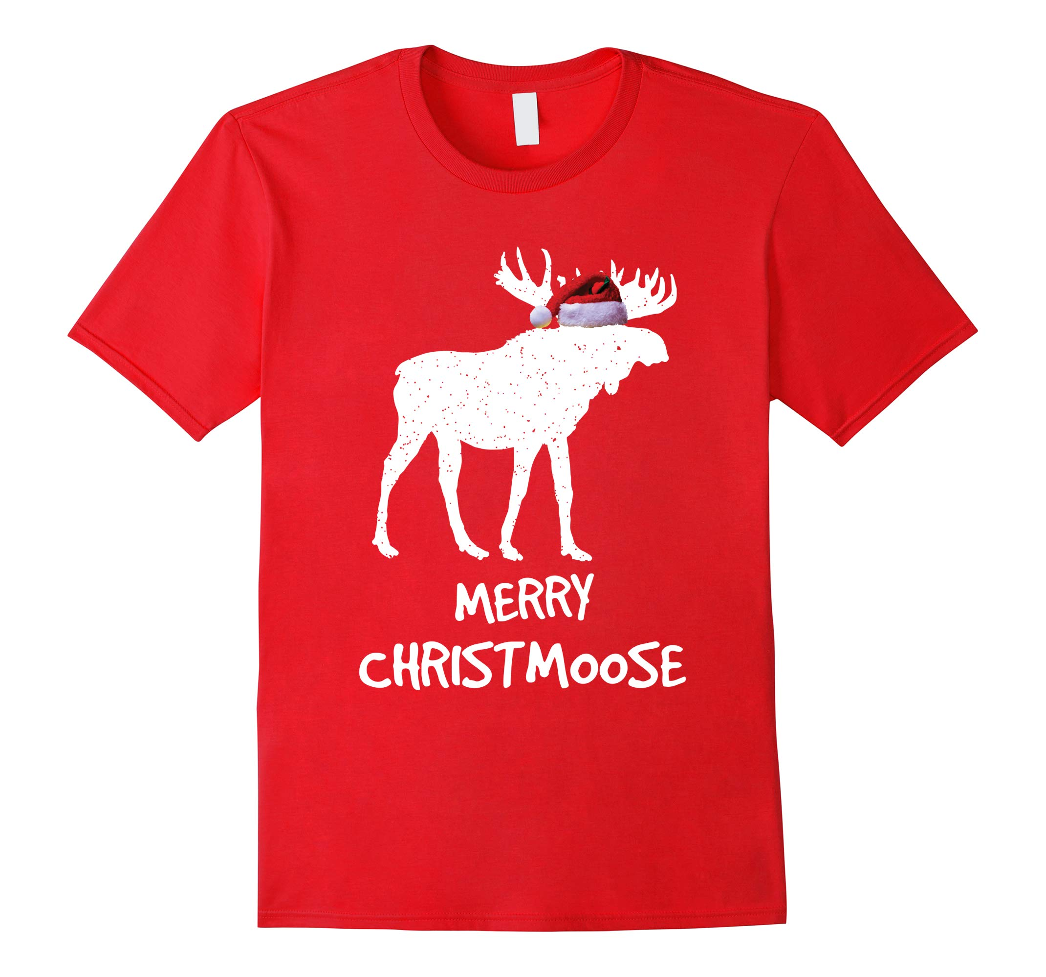 Merry Christmoose: Funny Christmas Moose Pajama Tee-RT