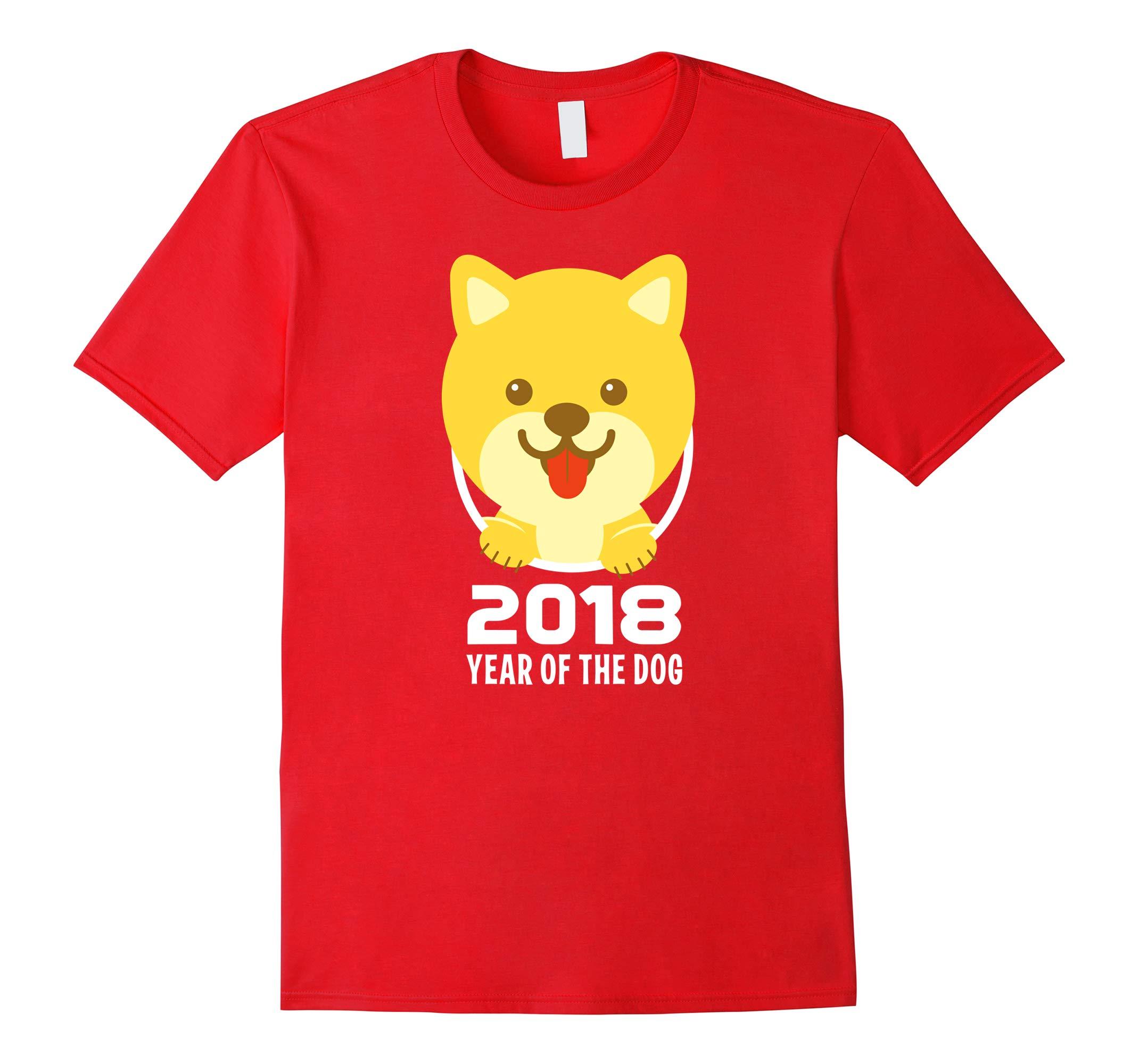 Year of the Dog 2018 Shiba Inu Shirt Chinese New Year-RT