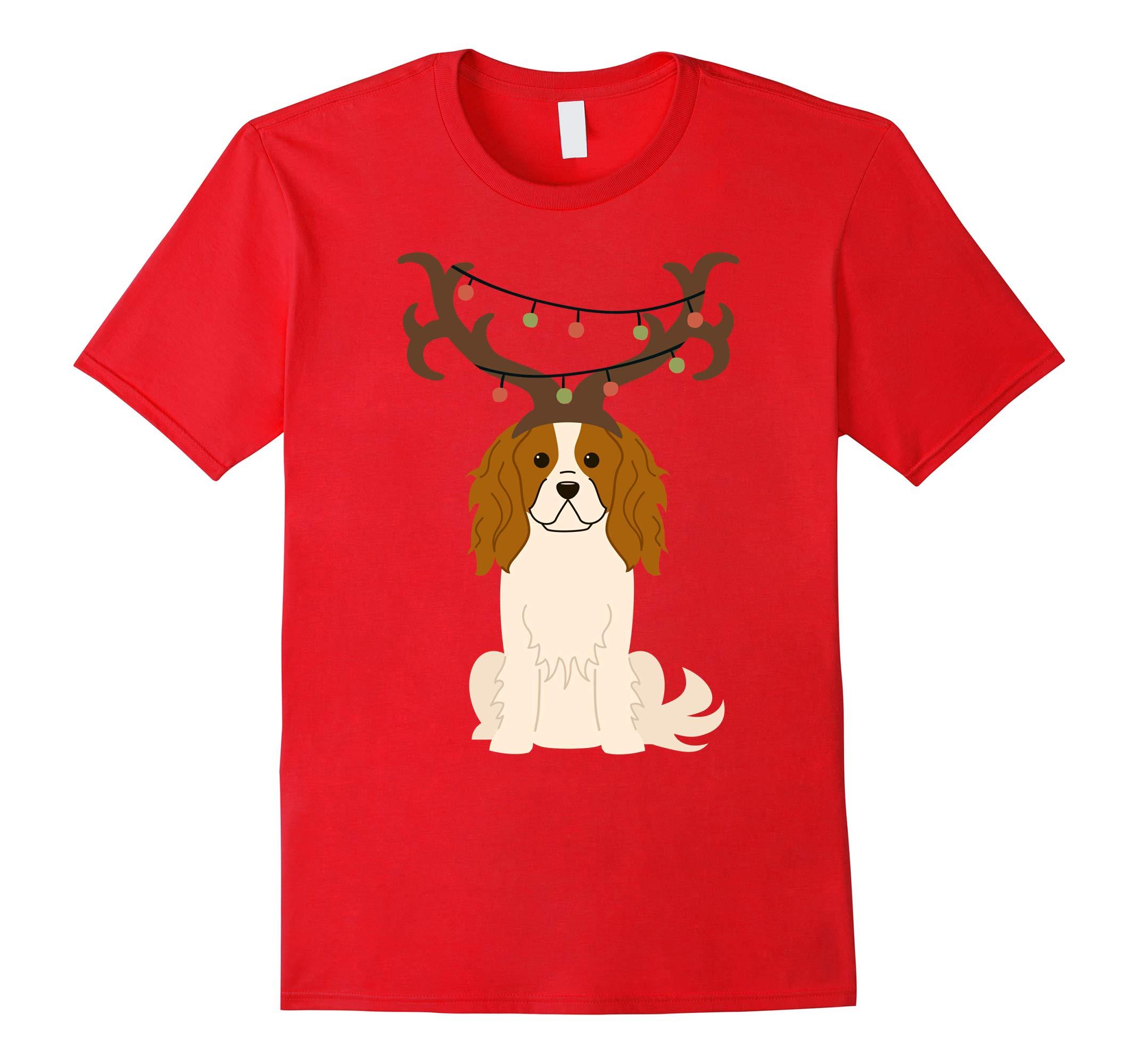 Cavalier King Charles Spaniel Reindeer Lights Gift Shirt-RT