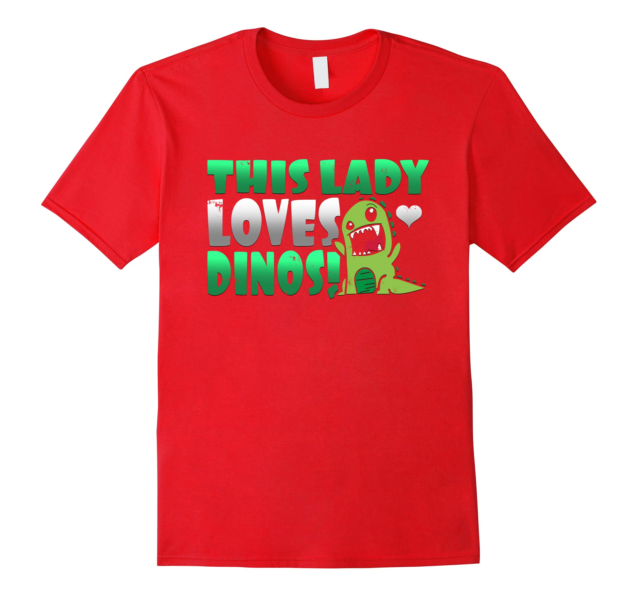 Cute Graphic This Lady Loves Dinos Paleontologist T Shirt-RT