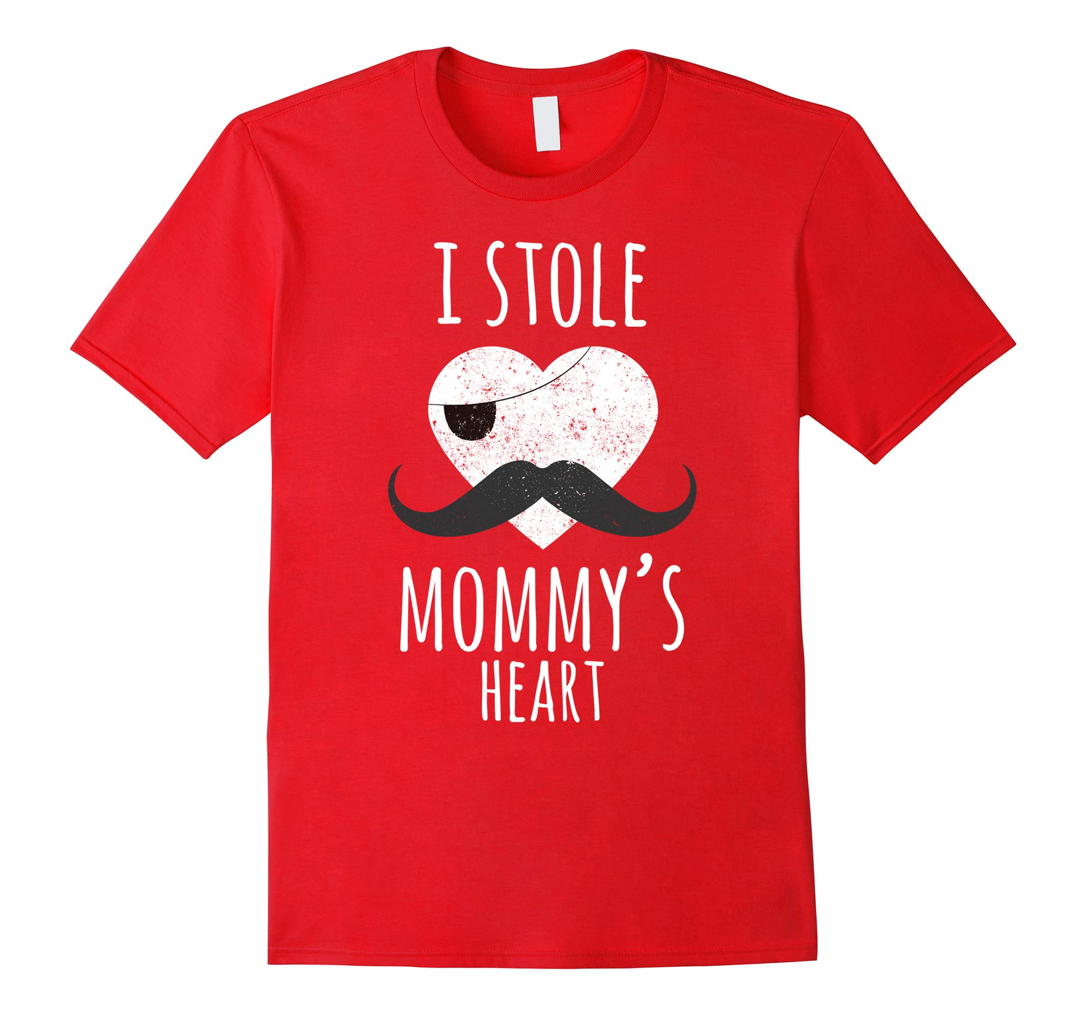Valentines Day Shirts for Boys, I Stole Mommy's Heart Funny-RT