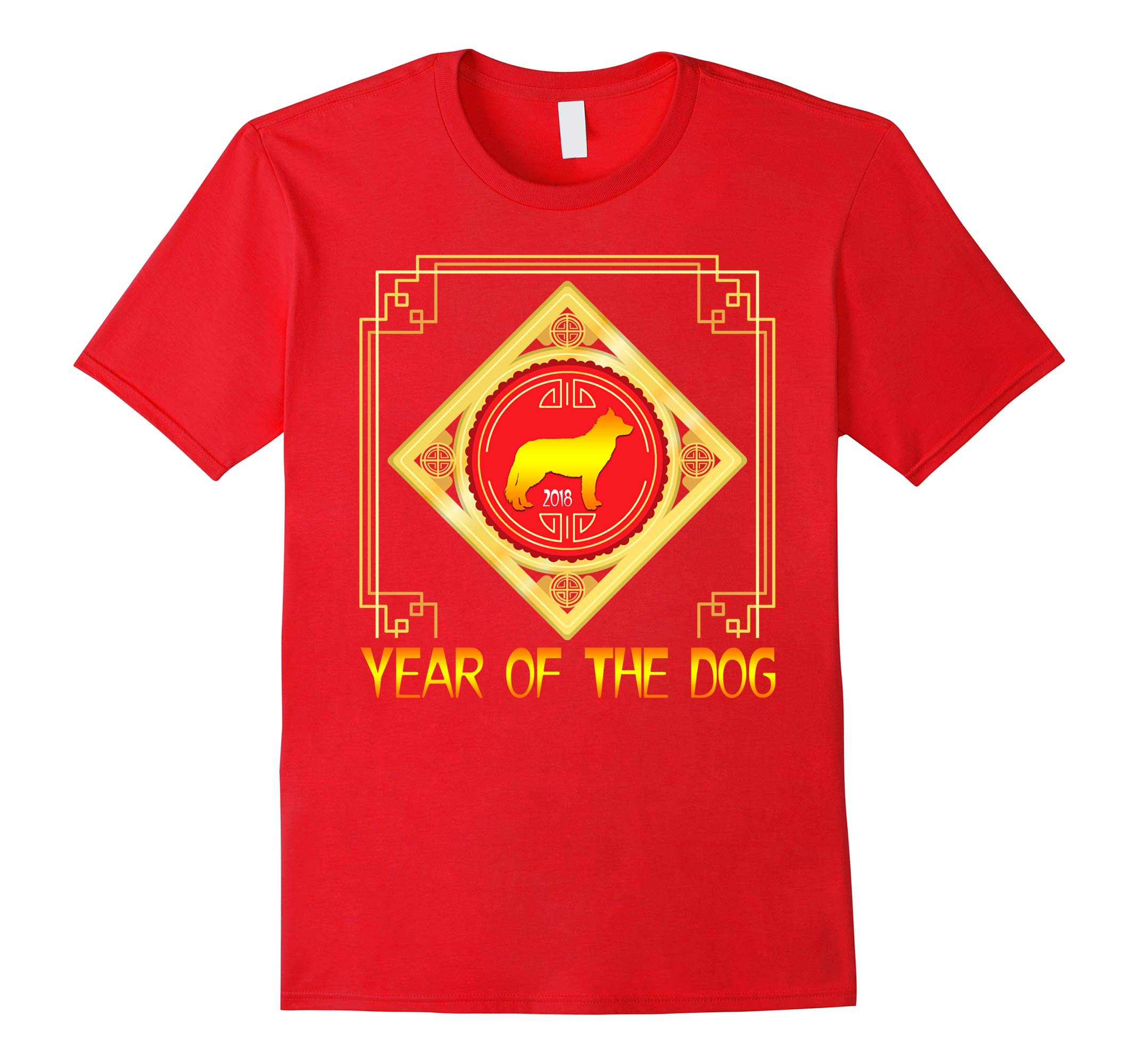 Year Of The Dog Shirt Siberian Husky 2018 Chinese New Year-RT