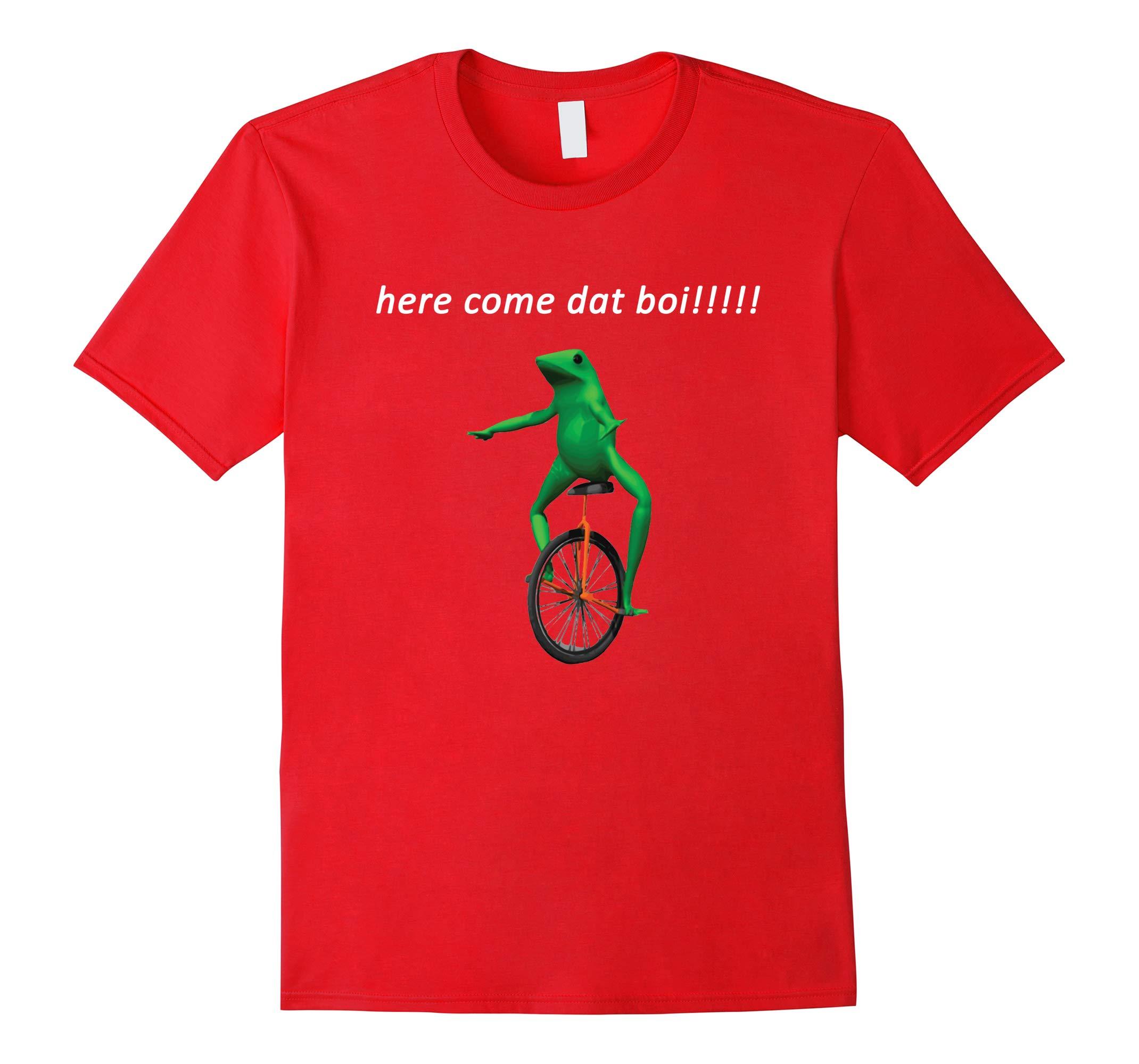 Funny Dat Boi Waddup Frog Meme T-Shirt-RT