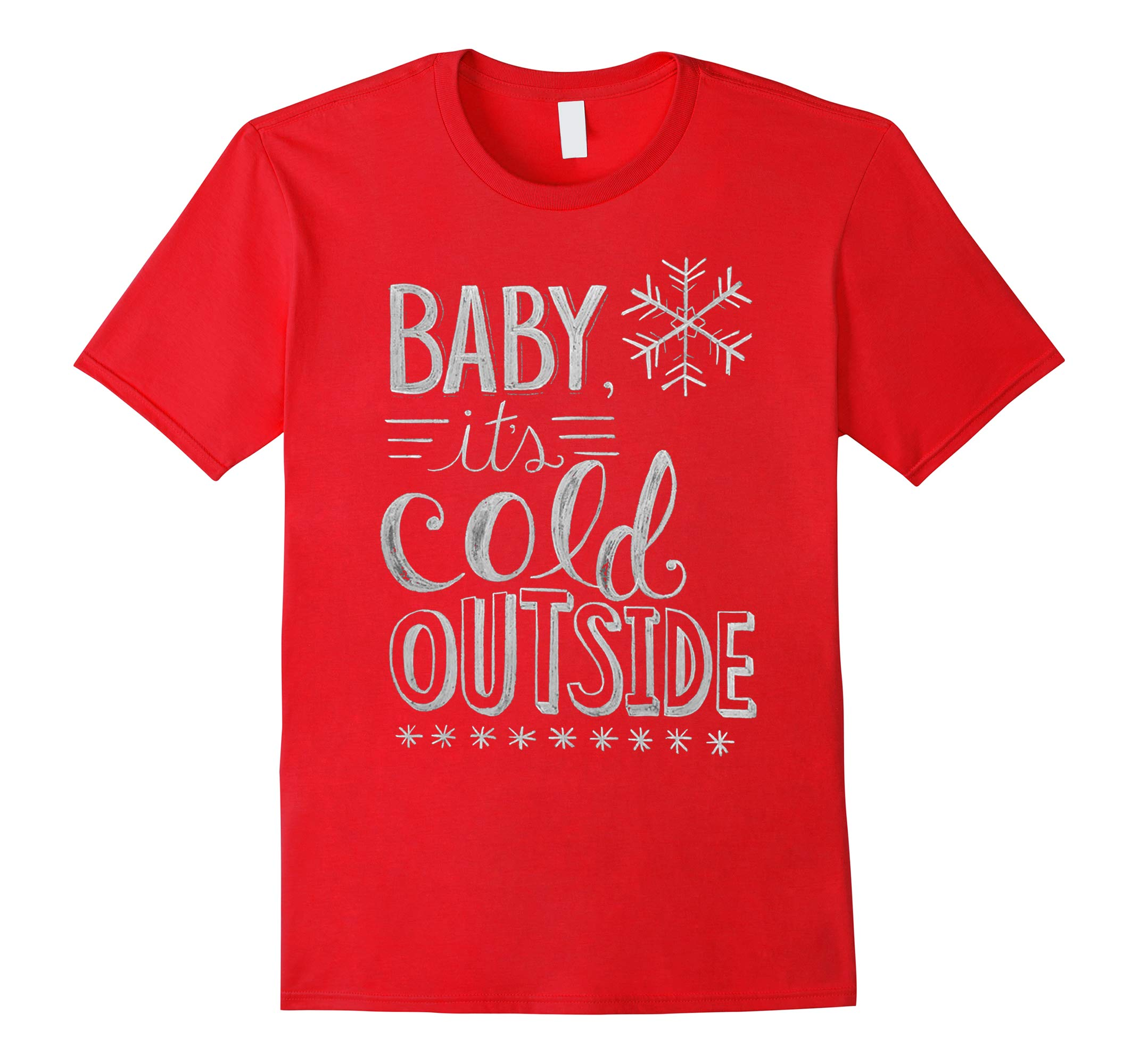 Yeah Baby it's cold outside christmas shirt-RT