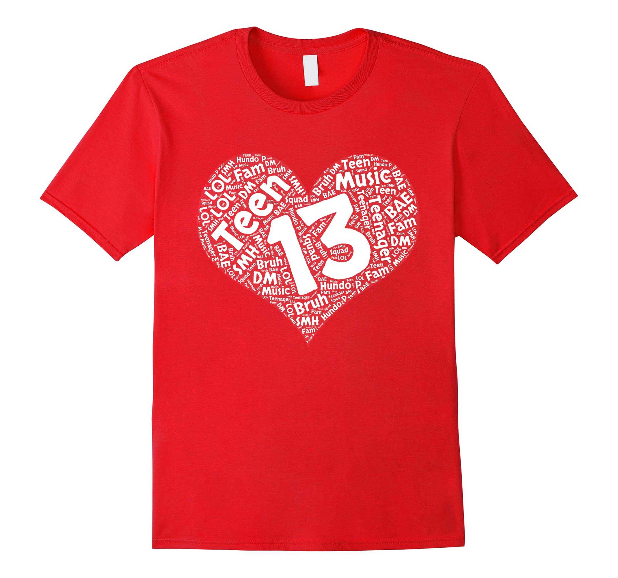 13th Birthday Typography T-Shirt Gift for Teenage Girls-RT