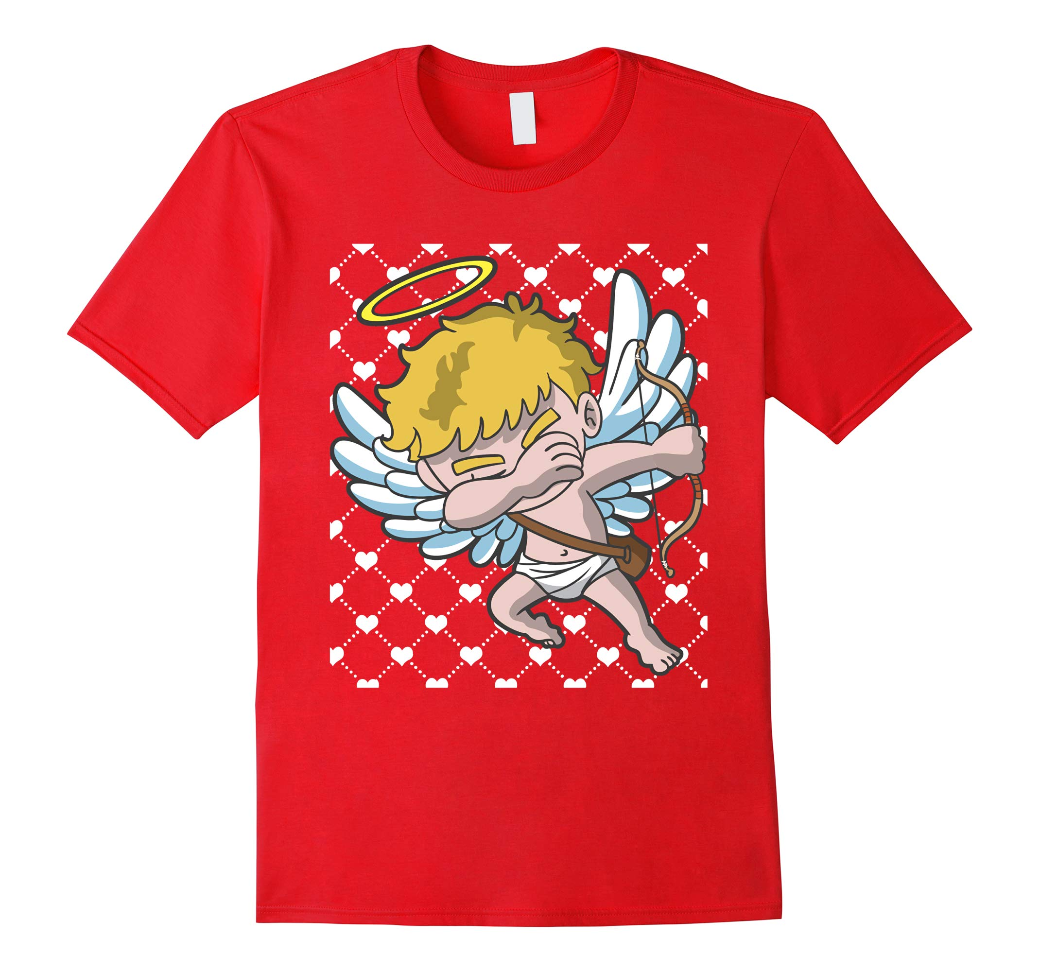 Valentines Day Dabbing Cupid Hearts Shirt-RT