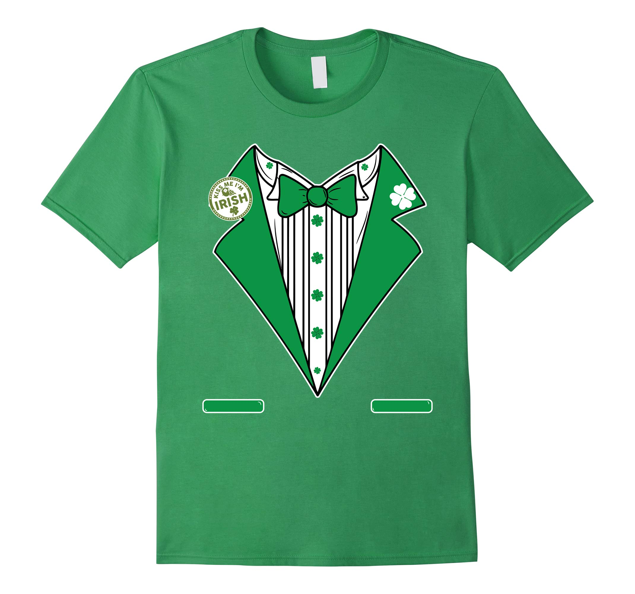 St. Patricks Day Tux Tee Shirt - Green Pattys Day Costume-RT