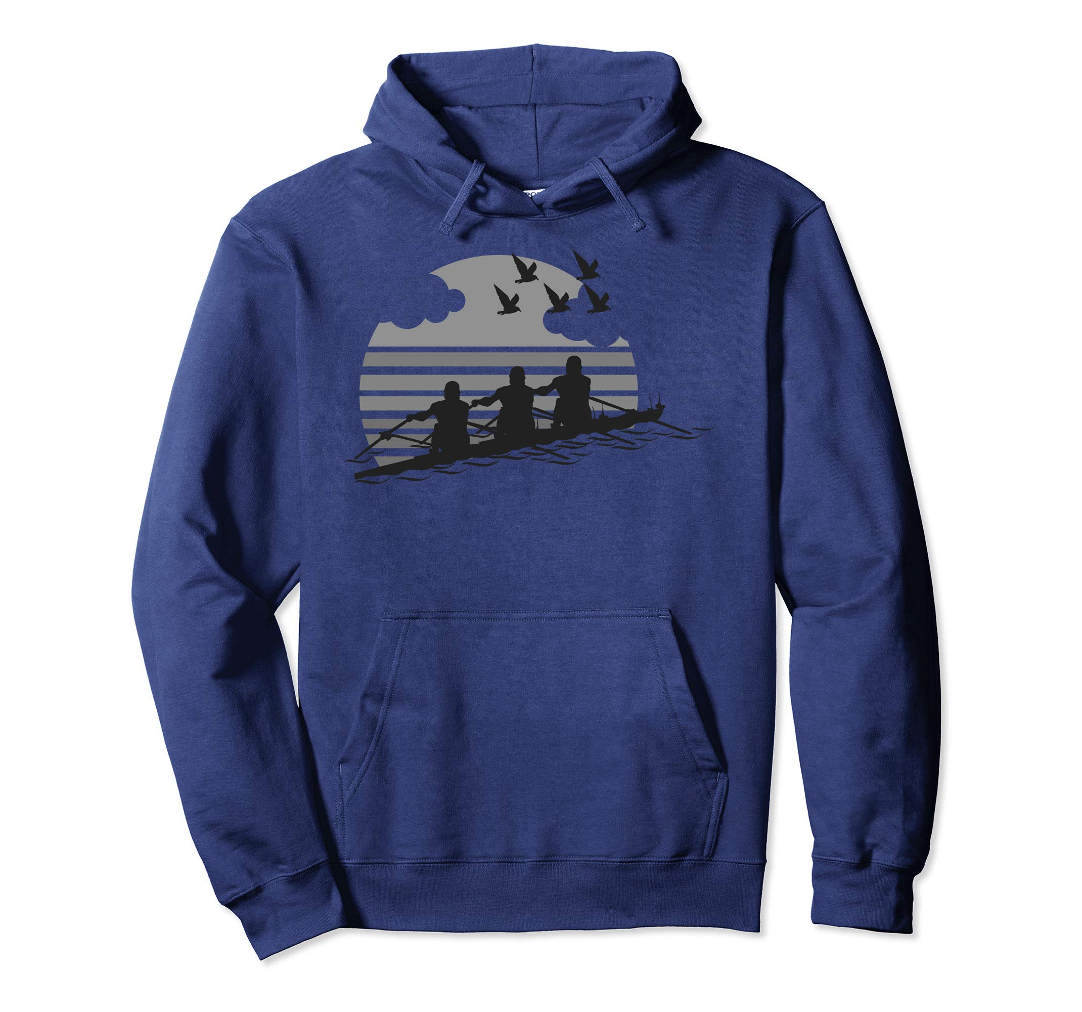 Rowing Team Sunset Lake Hoodie | Cute Crew Sport Hood Gift-ANZ