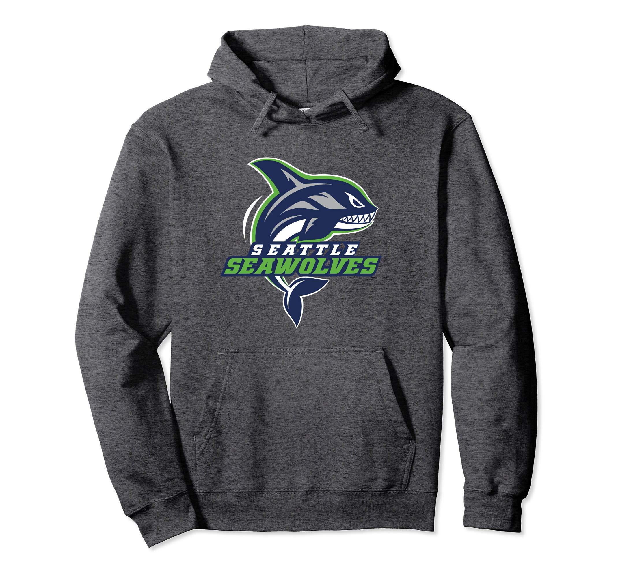 Seattle Seawolves: Logo Pullover Hoodie-4LVS