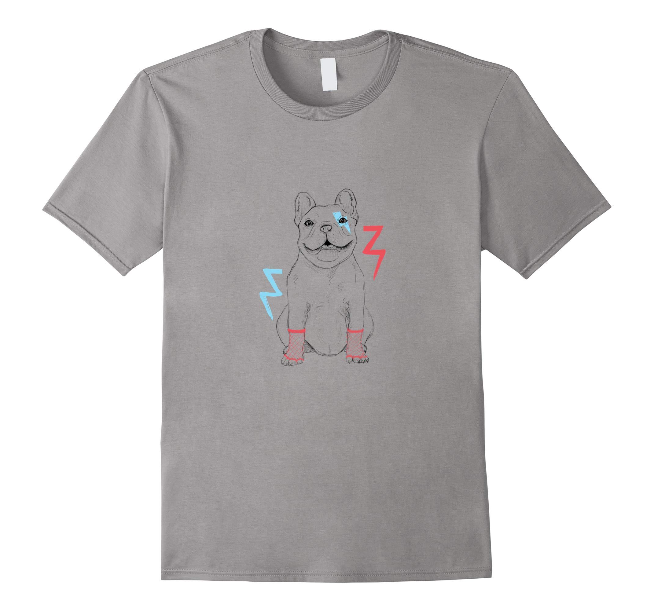 Bulldog Retro T Shirt Hip Fun Dog Lover Novelty Cool Shirt-RT