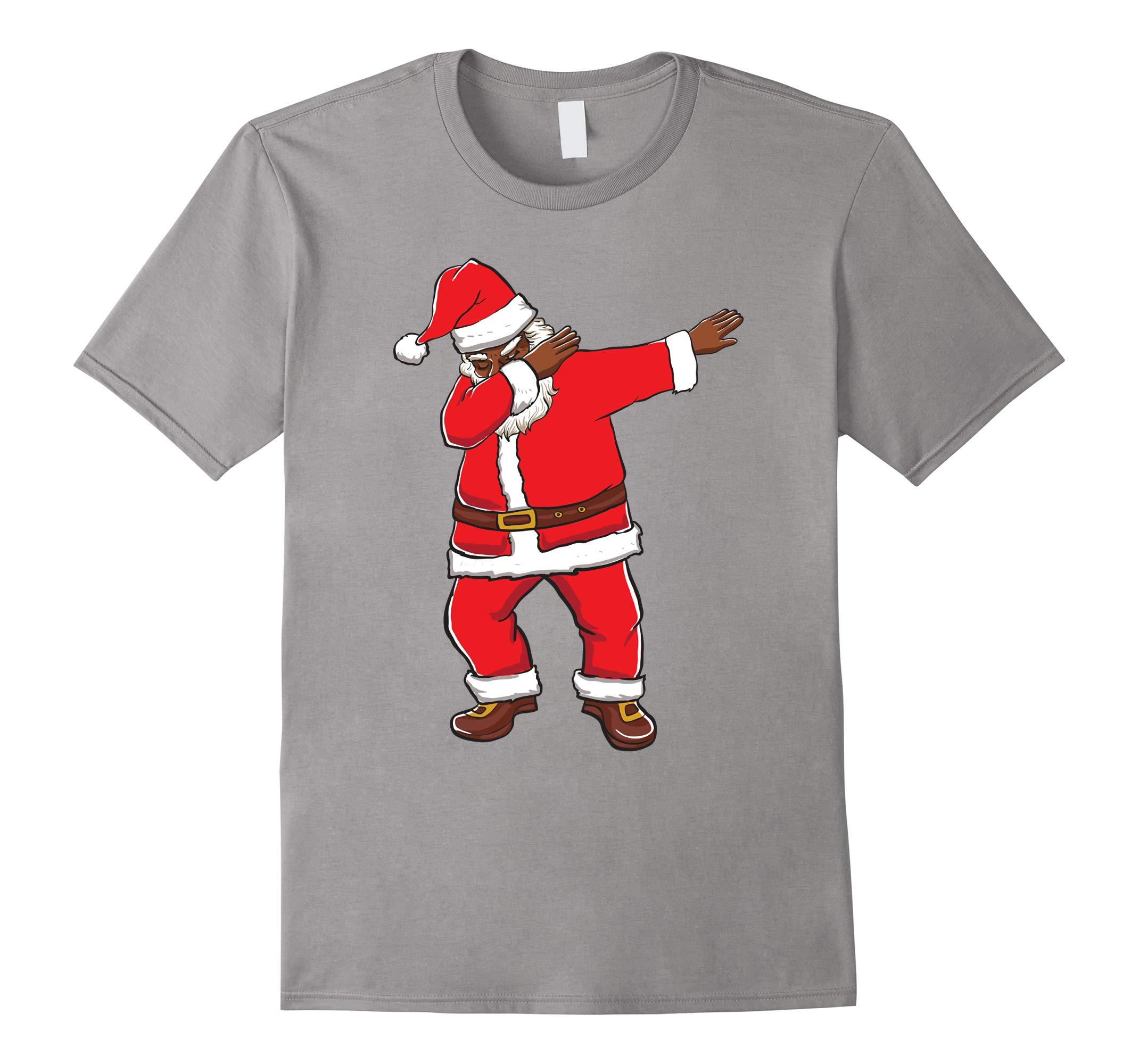 Black Santa Dabbing - Black Santa Shirts-RT