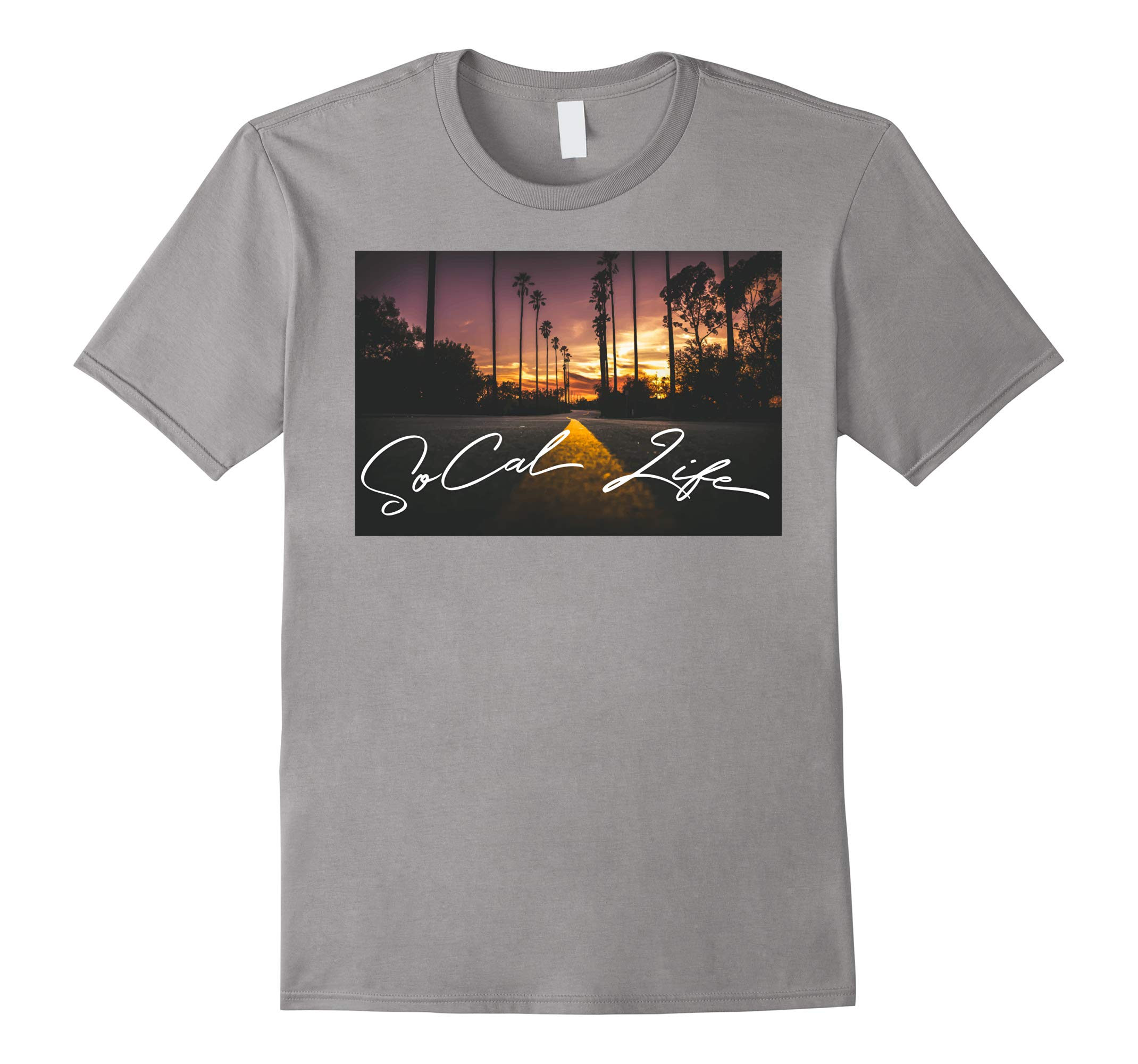 SoCal Life Sunset Road with Palm Trees T-shirt-RT
