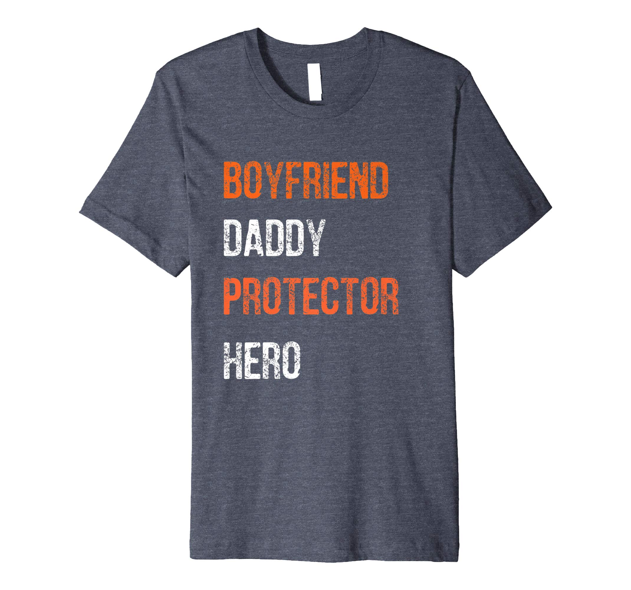 Mens Fathers Day Gift Boyfriend Daddy Hero Shirt from Girlfriend- TPT